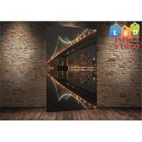 Tablo İstanbul Golden Gate Köprü Led Işıklı Kanvas Tablo 45 X 65 Cm
