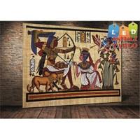 Tablo İstanbul Mısır Eski Resimler Led Işıklı Kanvas Tablo 45 X 65 Cm