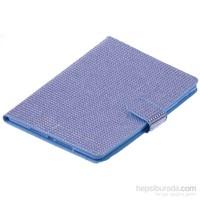 Qapak İpad Air Tablet Taşlı Koruma Kılıf Mavi