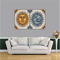 Ritmo-Güneş Ve Ay Kanvas Tablo