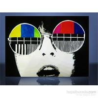 Renkli Gözlük Dünya Kanvas Tablo