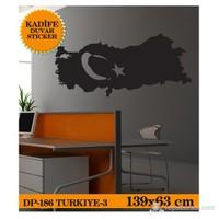 TÜRKİYE-3 139x63 CM - SİYAH
