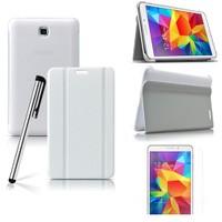 Romeca Samsung Galaxy Tab 4 8.0'' T330 Beyaz Book Cover+Ekran Koruyucu +Tablet Kalemi Hediyeli