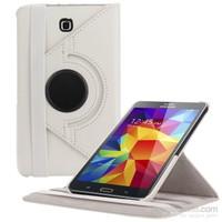 Romeca Samsung Galaxy Tab 4 7.0'' 360° Dönebilen Beyaz Stand Kılıf T230 + Ekran Koruyucu +Tablet Kalemi Hediyeli