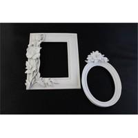 Hobi Polyester 2 Li Ayna-Resim Çerçeve Duvar Süsü
