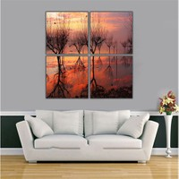 Ritmo Canvas Göl Manzarası Kanvas Tablo