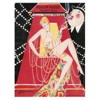 Karton Afiş - Musıc-Hall Moulın Rouge 24 X 32 Cm