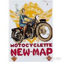 Metal Poster - New-Map 15X20cm.