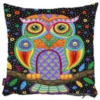 Bengü Accessories Baykuş Desenli Dekoratif Yastık 35