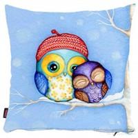 Bengü Accessories Baykuş Desenli Dekoratif Yastık 17