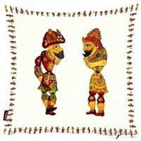 Bengü Accessories Hacivat Karagöz Orta Oyunu Desenli Dekoratif Yastık