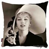 Bengü Accessories Marilyn Monroe Desenli Dekoratif Yastık 13