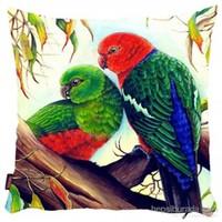 Bengü Accessories Papağan, Kuş Desenli Dekoratif Yastık 1