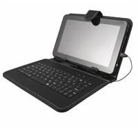"""Case 4U Universal Klavyeli 7"""" Siyah Tablet Kılıfı"""
