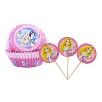 Prenses Cupcake Kabı Ve Kürdan 24 Lü Takım