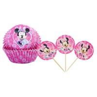 Minnie Mouse Cupcake Kabı Ve Kürdan 24 Lü Takımı