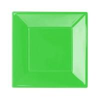 Pandoli Yeşil Renk Küçük Boy 17 Cm Plastik Parti Tabağı 8 Adet