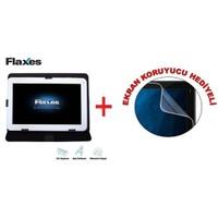 """Flaxes FDK-800S Universal 8"""" Siyah Tablet Kılıfı + Ekran Koruyucu Hediyeli"""