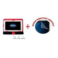 """Flaxes FDK-800K Universal 8"""" Kırmızı Tablet Kılıfı + Ekran Koruyucu Hediyeli"""
