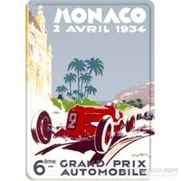 Metal Poster - Monaco 1934 Géo Ham 15X20cm.