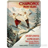 Metal Poster - Chamonıx Sauteurs - Tamagno Plaque 30X40cm