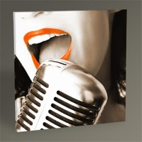 Tablo 360 Red Lips And The Microphone Tablo 30X30