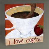Tablo 360 I Love Coffee Tablo 30X30