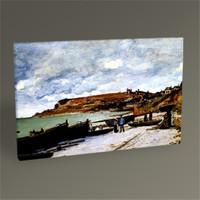 Tablo 360 Claude Monet Sainte-Adresse, Fishing Boats On The Shore 45X30
