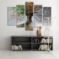 Dekoratif 5 Parçalı Kanvas Tablo-5K-Hb061015-23