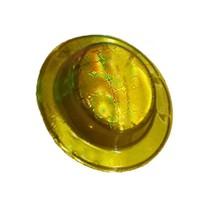Pandoli Altın Sarısı Renk Desenli Plastik Parti Şapkası