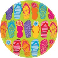 Parti Paketi Hawaii Flip Flop Açık Büfe Tabağı