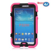 Case 4U Samsung Galaxy Tab 3 7.0 P3200 Darbeye Dayanıklı Pembe Tablet Kılıfı