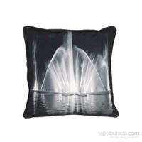 Yastıkminder Siyah Beyaz Havuz Dijital Baskı Yastık