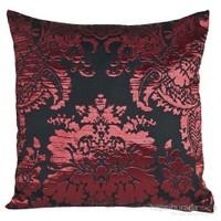 Yastıkminder Tafta Kırmızı Siyah Kaftan Dekoratif Yastık