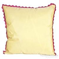 Yastıkminder Tafta Sarı Pembe Fistolu Dekoratif Yastık