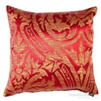Yastıkminder Tafta Kırmızı Sarı Osmanlı Karanfil Kaftan Dekoratif Yastık