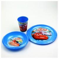 Cars Plastik 3'Lü Set (Kase,Tabak,Bardak)