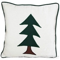 Yastıkminder Kadife Beyaz Y.Küçük Ağaç Aplike Yastık