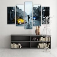 Dekoratif 5 Parçalı Kanvas Tablo-5K-Hb061015-60
