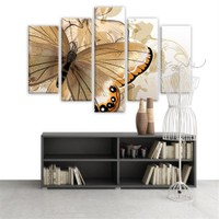 Dekoratif 5 Parçalı Kanvas Tablo-5K-Hb061015-87