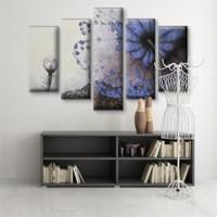 Dekoratif 5 Parçalı Kanvas Tablo-5K-Hb061015-88