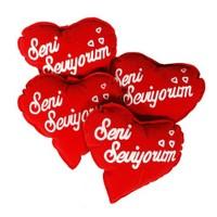 """Coco Bonbon Küçük Kalp Yastık """"Seni Seviyorum""""4'lü"""