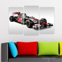 Dekoriza Mercedes F1 Araba 3 Parçalı Kanvas Tablo 80X50cm