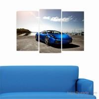 Dekoriza Lamborghini Gallardo Araba 3 Parçalı Kanvas Tablo 80X50cm