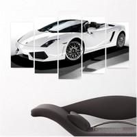 Dekoriza Lamborghini Gallardo Araba 5 Parçalı Kanvas Tablo 110X60cm