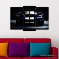 Dekoriza Ford Shelby Spor Araba 3 Parçalı Kanvas Tablo 80X50cm