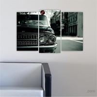Dekoriza Ford Klasik Araba 3 Parçalı Kanvas Tablo 80X50cm