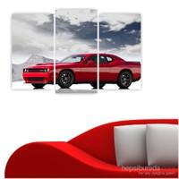 Dekoriza Dodge Supercharger Spor Araba 3 Parçalı Kanvas Tablo 80X50cm