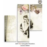 Artred Gallery Üç Parça Lady 100X95 Tablo