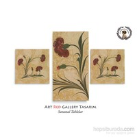 Artred Gallery Ebru Karanfil Üç Parça 80X50 Tablo
